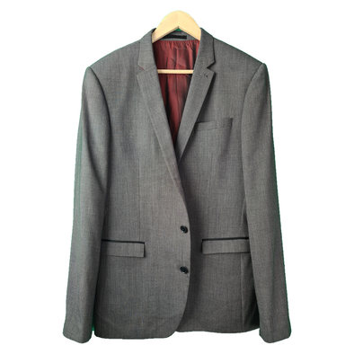 Grey single breasted 2 button blazer from Next