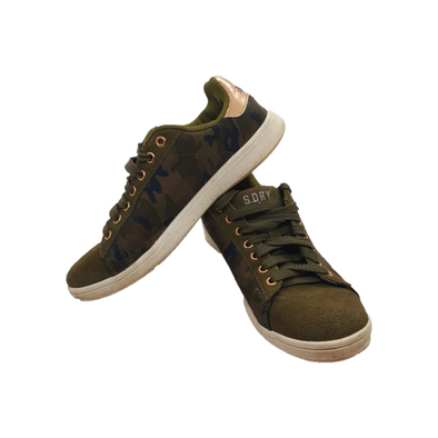 Khaki trainers with camouflage print from Superdry