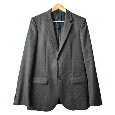 A textured black & Grey blazer from Alexander McQueen. A great men's blazer for your formal collection.