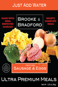 6 Sausage & Eggs Freeze Dried Meals