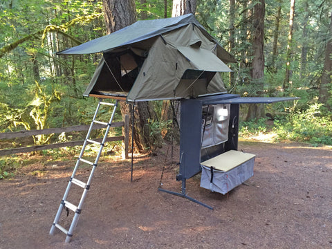 Nomad Hitch Camper with Roof Top Tent & Annex