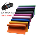 183cmx57cm Non-slip Yoga Mat 4mm, With or Without Bag