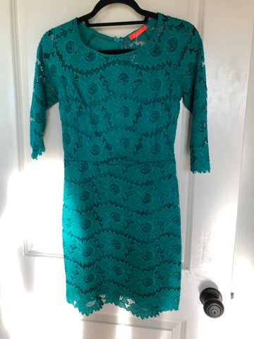 Jessica Teal Lace Dress