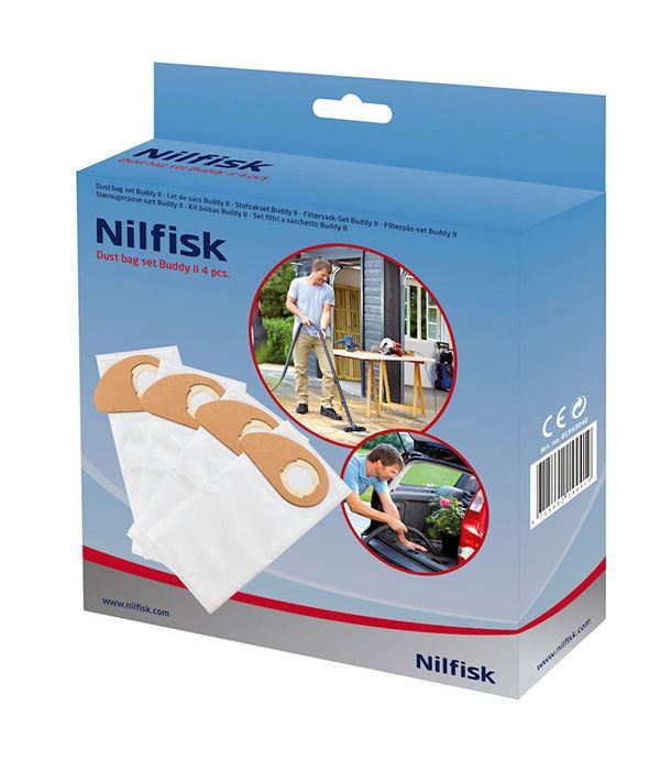 Genuine Nilfisk Buddy II Vacuum Cleaner Dust Bags 4 Pack