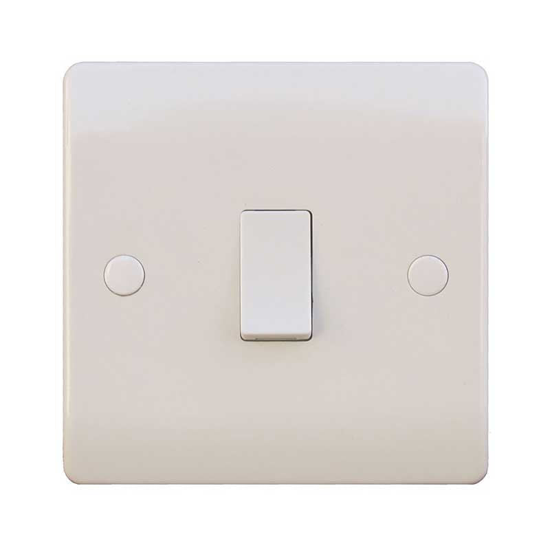 1 Gang Double Pole White Wall Switch 20A