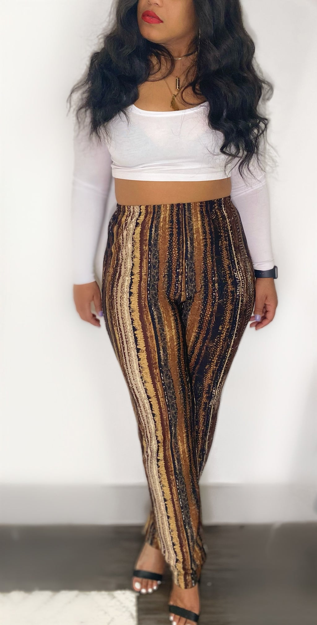 Multi Print Lazy Pants