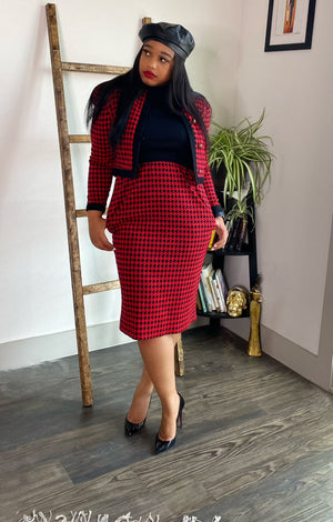 Vintage Houndstooth First Lady Dress Suit