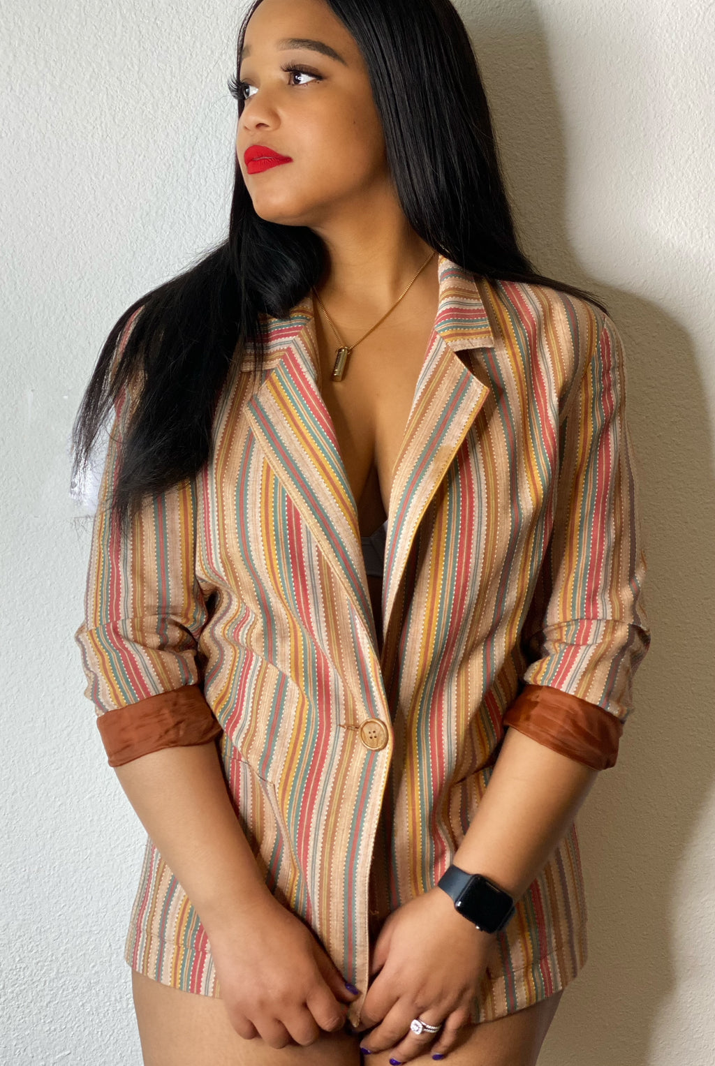 Vintage Multi Color Blazer
