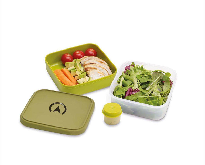 Transmartgate Compact 3-in-1 Salad Box, Green - Transmartgate - Amazing marketplace for Boutique Items.
