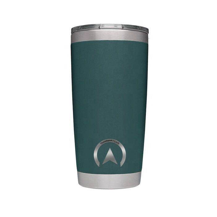 20 oz Stainless Steel Coffee Mug with Transparent Modern-designed Cover, Mid Size, Green - Transmartgate - Amazing marketplace for Boutique Items.