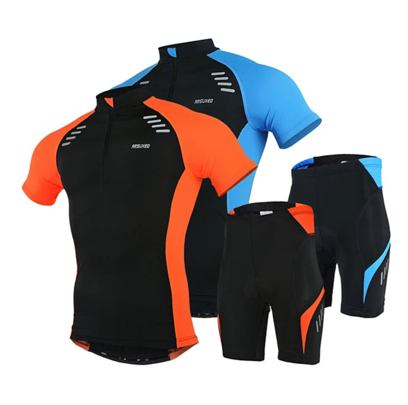 Men's Short Sleeve Cycling Jersey with Shorts Polyester Spandex Black Sports - Transmartgate - Amazing marketplace for Boutique Items.