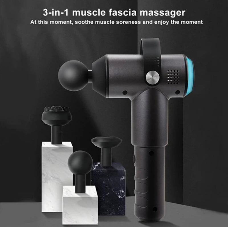 4 in 1 Rechargeable 24V 2000mAh Massage Gun 4 Head 20 Speed Electric Body Massager with Adapter 320 Wireless use for Muscle Tension Relief Men Sports Power light indicator Ergonomic Design - Transmartgate - Amazing marketplace for Boutique Items.