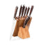 CutleryKnife Block 8 Set kitchen chef best value price stainless steel with Wooden Block, Honing Steel and Shears - Transmartgate - Amazing marketplace for Boutique Items.
