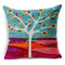 5 pcs Linen Throw Pillow Case Pastrol Oil Painting Style Cushion pillow Cover Home Sofa Decorative 18 X 18 Inch 45 X 45 CM - Transmartgate - Amazing marketplace for Boutique Items.