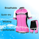 Women's Short Sleeve Cycling Jersey with Shorts Red Solid Color Bike Clothing Suit Breathable Quick Dry Anatomic Design Back Pocket Sports Polyester Elastane Solid Color Mountain Bike MTB - Transmartgate - Amazing marketplace for Boutique Items.