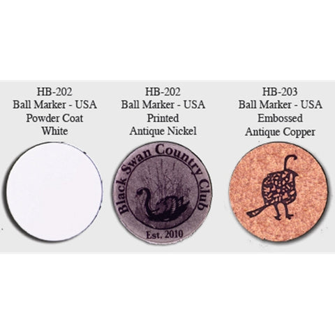 Imprinted Metal Ball Markers