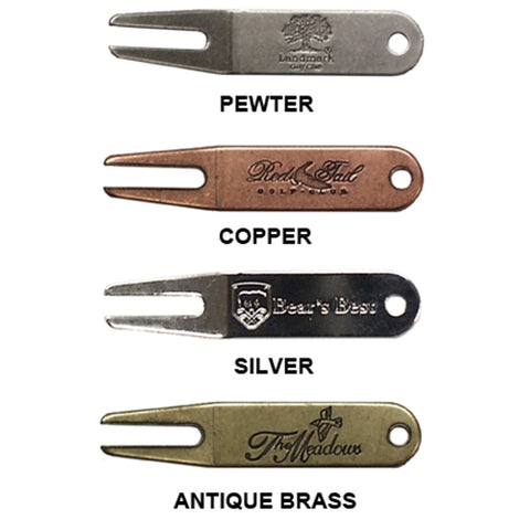 Imprinted Metal Divot Tools