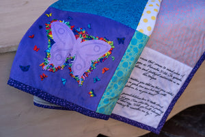 Personalized Quilt With Butterfly - Large Size