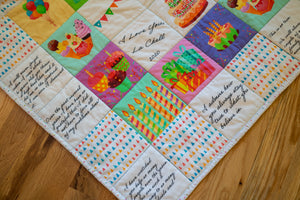 Personalized Quilt For Birthday- Male Or Female - Medium Size