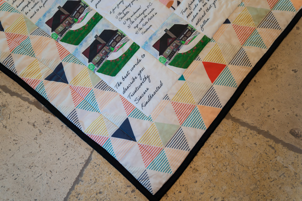 Personalized Quilt For New Home or Newlyweds - Large Size