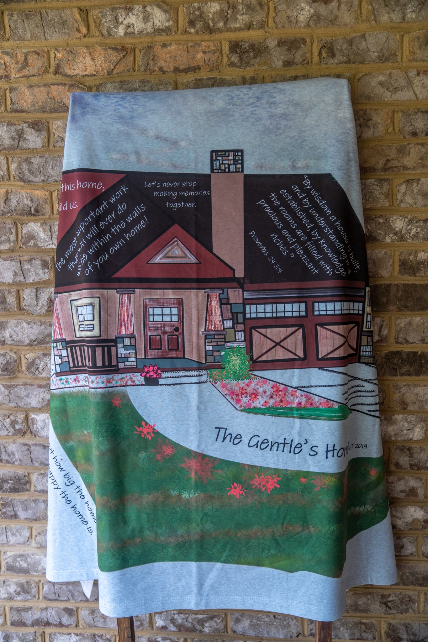 New Home Throw Blanket (Add Name and Established Date)