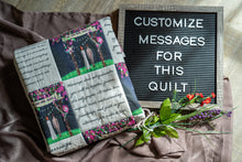 Load image into Gallery viewer, Personalized Quilt For Wedding - Large Size