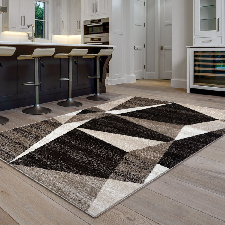 Adorable 2301 Beige  Triangles   Rug By Iconic Rugs Australia
