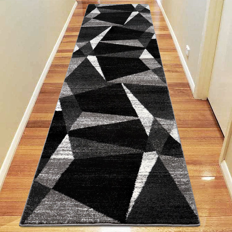 Adorable 2301 Grey  Triangles  Hallway Runner