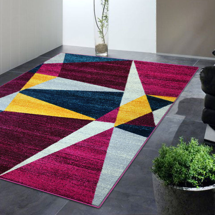 Adorable 2301 Colorfull  Triangles   Rug By Iconic Rugs Australia
