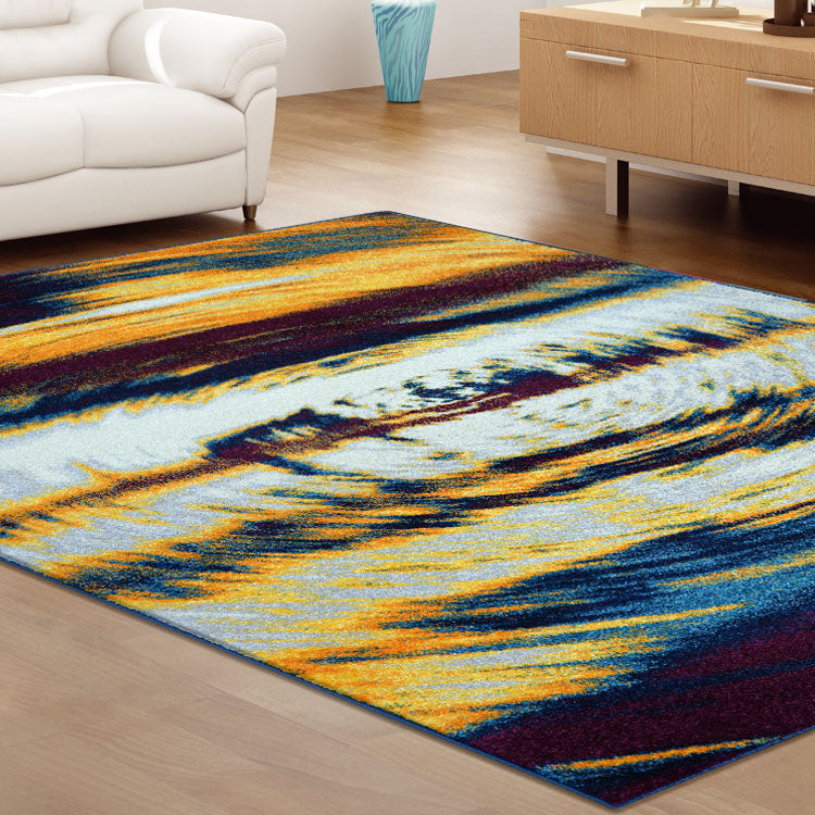 Adorable 3629 Blue Multi Swirl    Rug By Iconic Rugs Australia