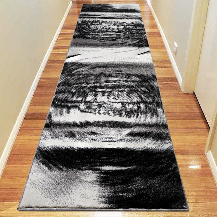 Adorable 3629 Grey  Swirl Hallway Runner