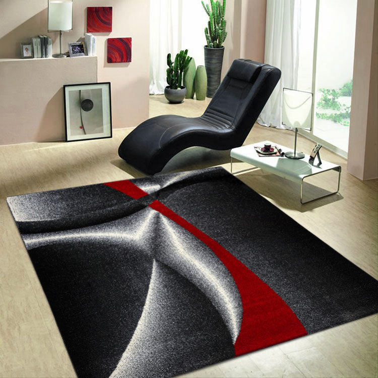 Atlantic Graphite Red 387 Curvy Modern Rug From $115