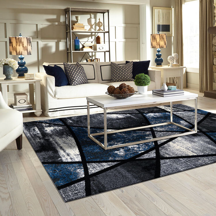 Atlantic 535 Grey Opal  Curve and square  Modern Rug From $115