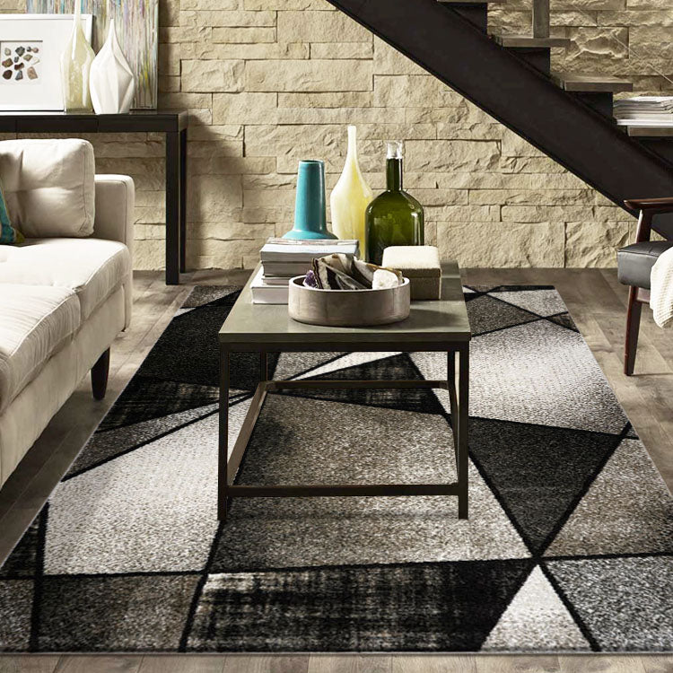 Atlantic 752 Ash Geometry  Modern Rug From $115
