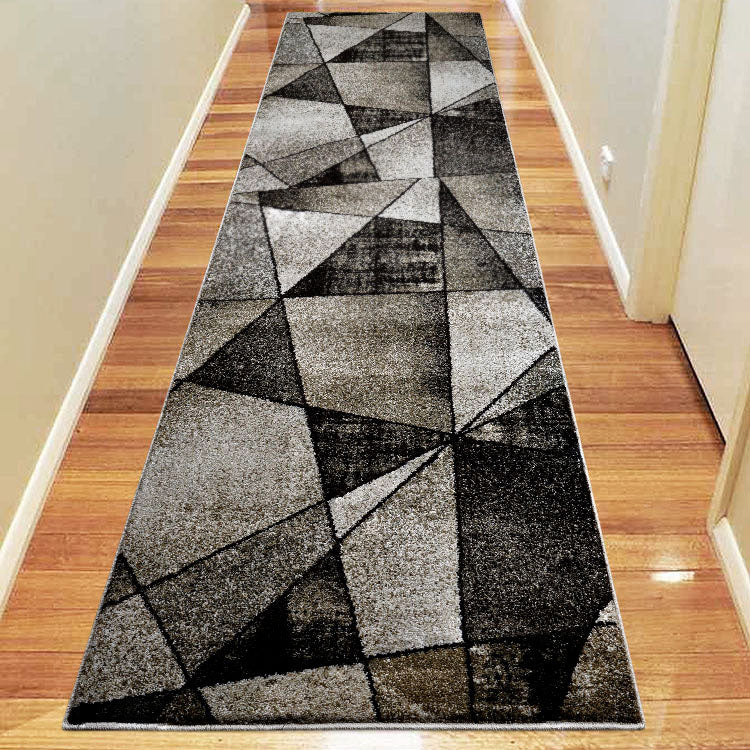 Atlantic 752 Ash Geometry Hallway Runner