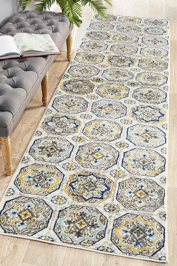 Babylon 204 Blue  Runner Rug