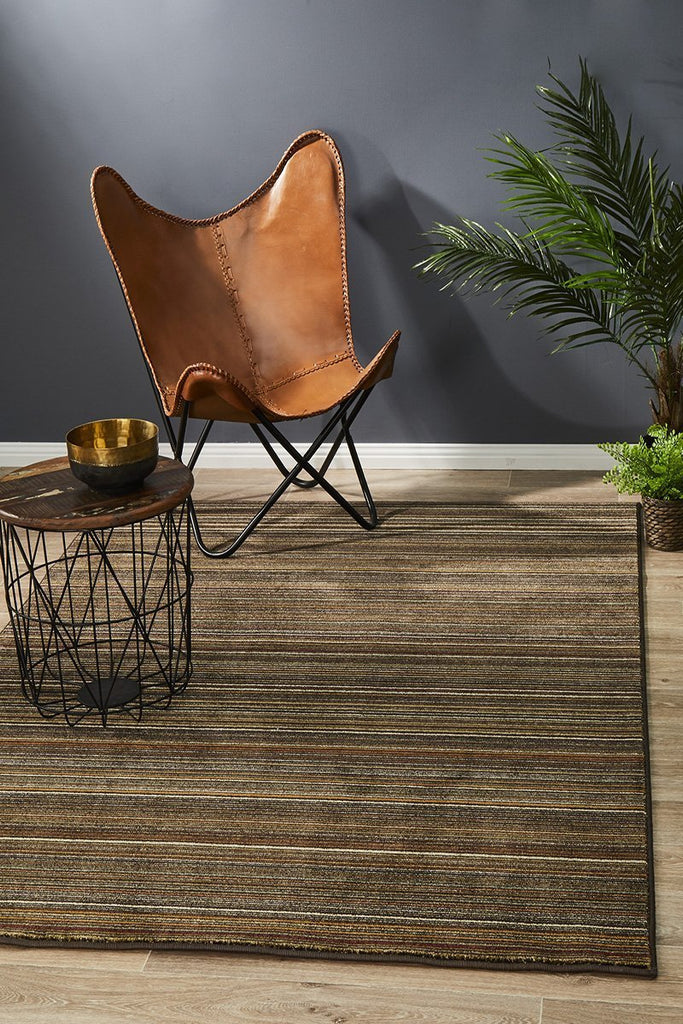 Byblos Country  Stripped Beige Rug