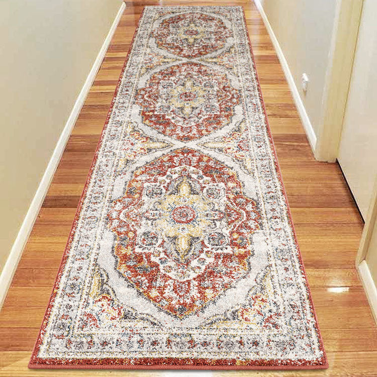 Canyon Terra blue Medallion  3901 Hallway Runner by Iconic rugs Australia