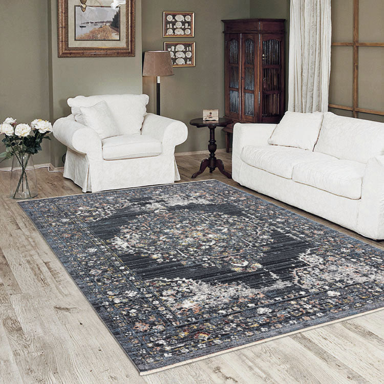 Persian Design rug Dusk 2839 Dark Grey with medallion from $99