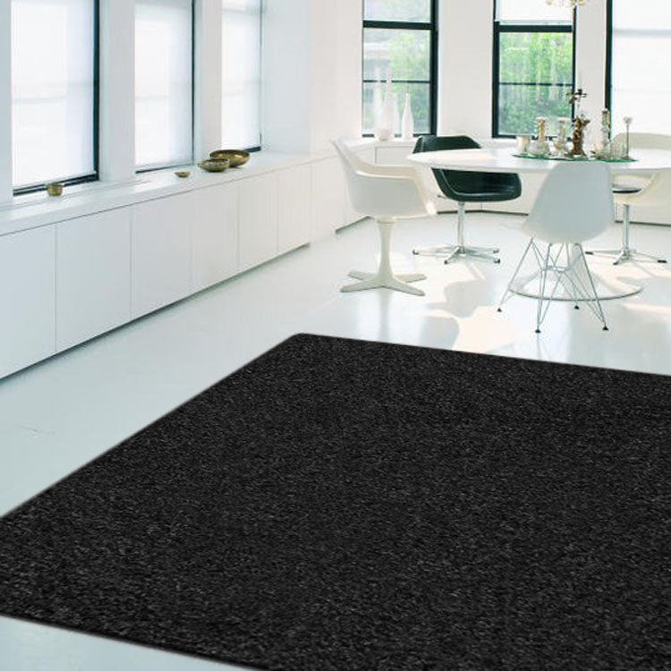 Plain Colour Rug European Collection  Black Colour
