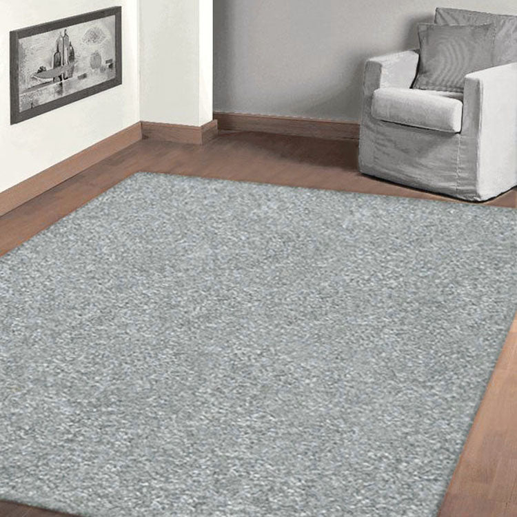 Grey Plain Colour Rug European Collection
