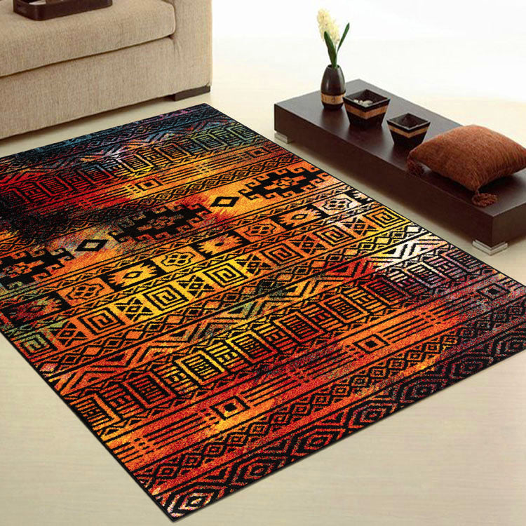 Galaxy 243 Dark Red Country Style   Rug