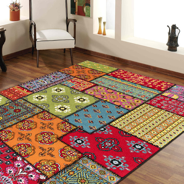 Galaxy 64 Red Multi  Square Beautiful Rug