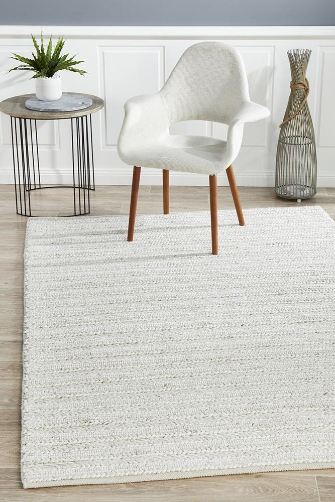 Harvest Wool Viscose Natural Material 801 Ivory Rug