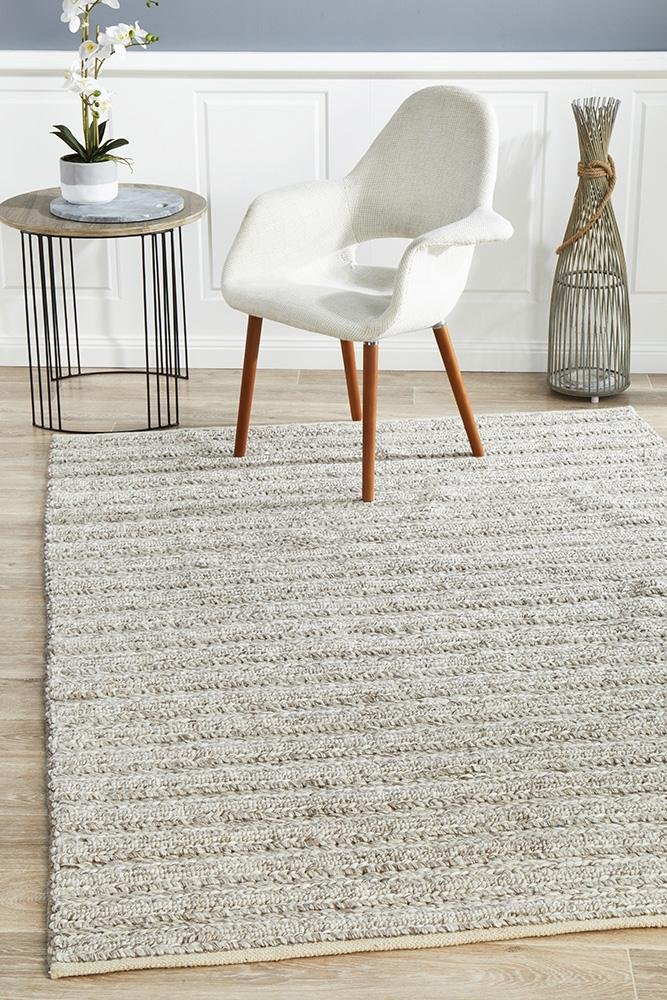 Harvest 801 Natural Colour Wool Viscose Hand Made  Rug