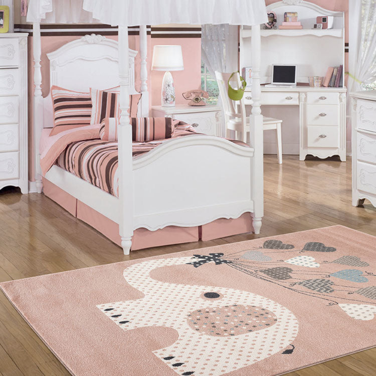 Kids  Pink Elephant Rug by Iconic rugs Australia
