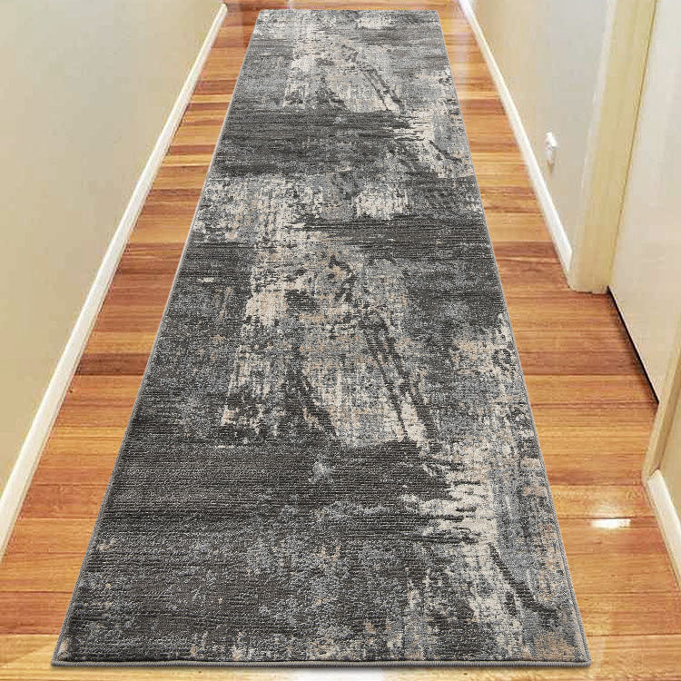 Lotus 2616 Grey Hallway Runner By Iconic Rugs Australia