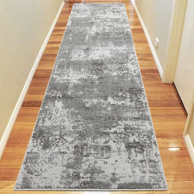 Lotus 2729 Light Grey Hallway Runner By Iconic Rugs Australia