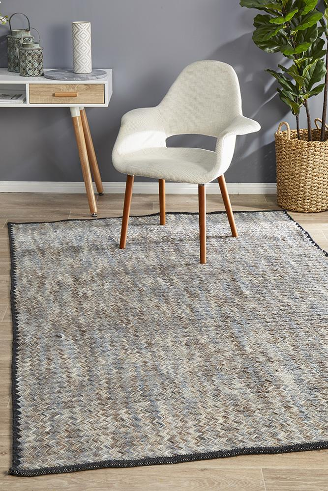 Miller Rhythm Jazz Hand Loomed  Smoke Colour  Rug
