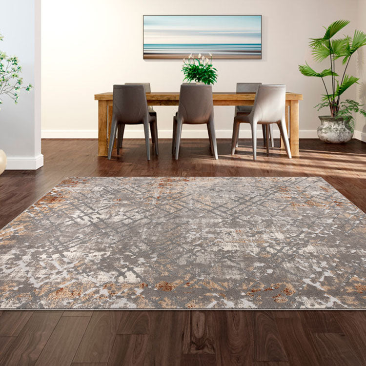 Nova 2609 Contemporary  Grey Rug By Iconic Rugs Australia